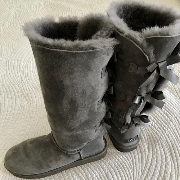 """180c1b22f76 Ugg Australia """"Bailey"""" Bow Tall II boots in grey"""